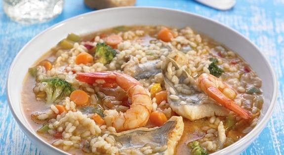 receta de arroz caldoso con brotola