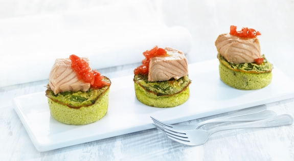 Receta de tacos de salmón con acelga