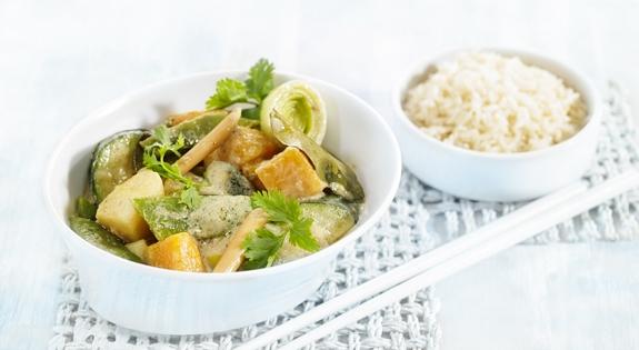 Receta de Curry Verde y Verduras