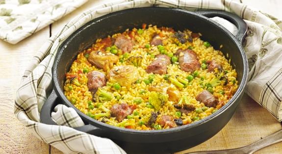 Receta de arroz de pollo y butifarra