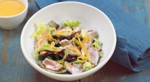Ensalada de salmonetes confitados y berenjenas