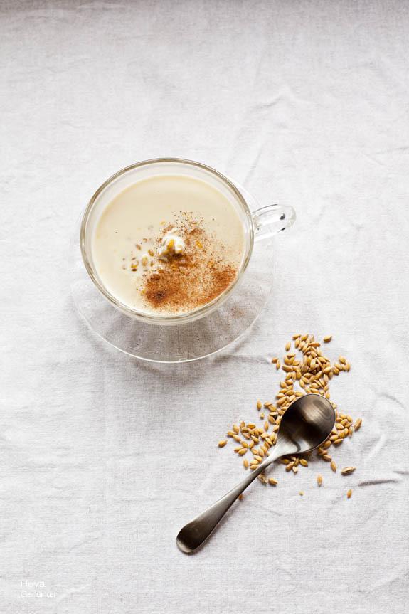 Espelta integral con leche vegetal Heva