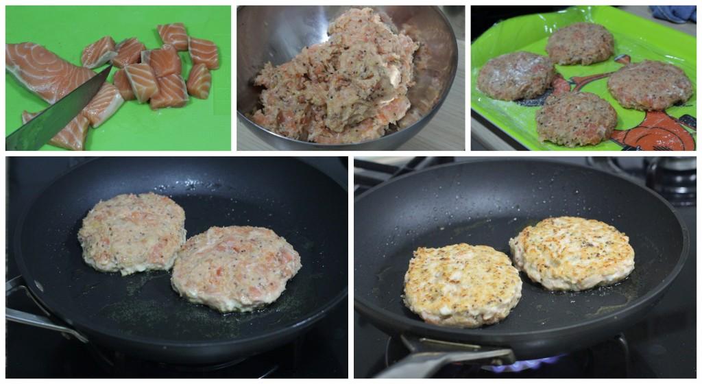 Cómo hacer hamburguesas de salmon caseras