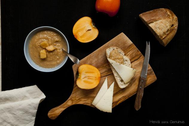 Chutney de persimon y manzana by Heva