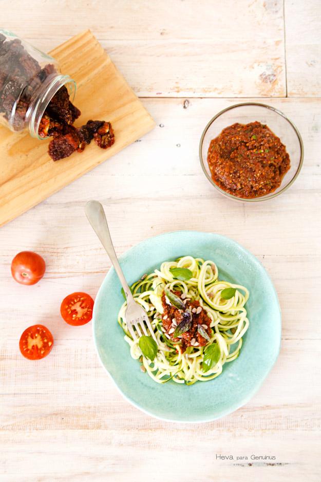 Zoodles o espaguetis de verdura